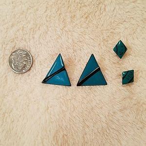 Geometric designed vintage earrings